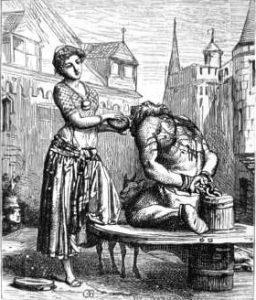 La fustigazione di Quasimodo e le cure di Esmeralda