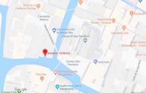 mappa di google che segnala l'opra di banksy