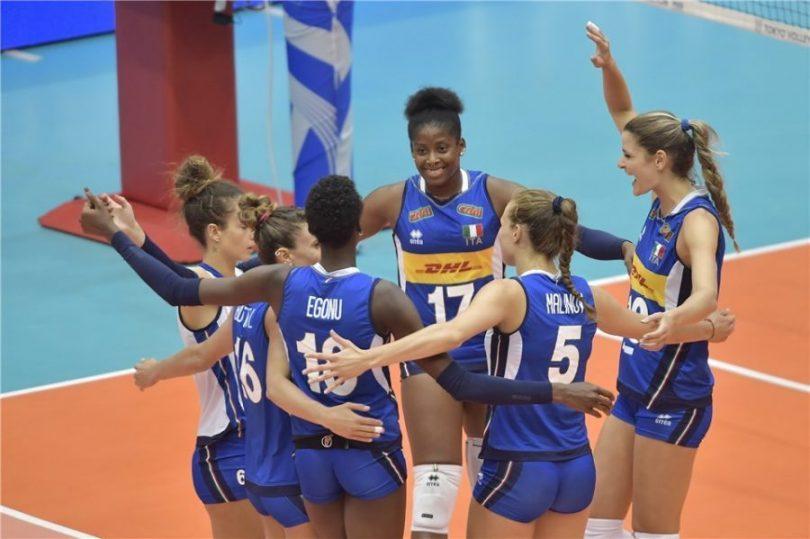 Volley femminile 3-0 contro Olanda